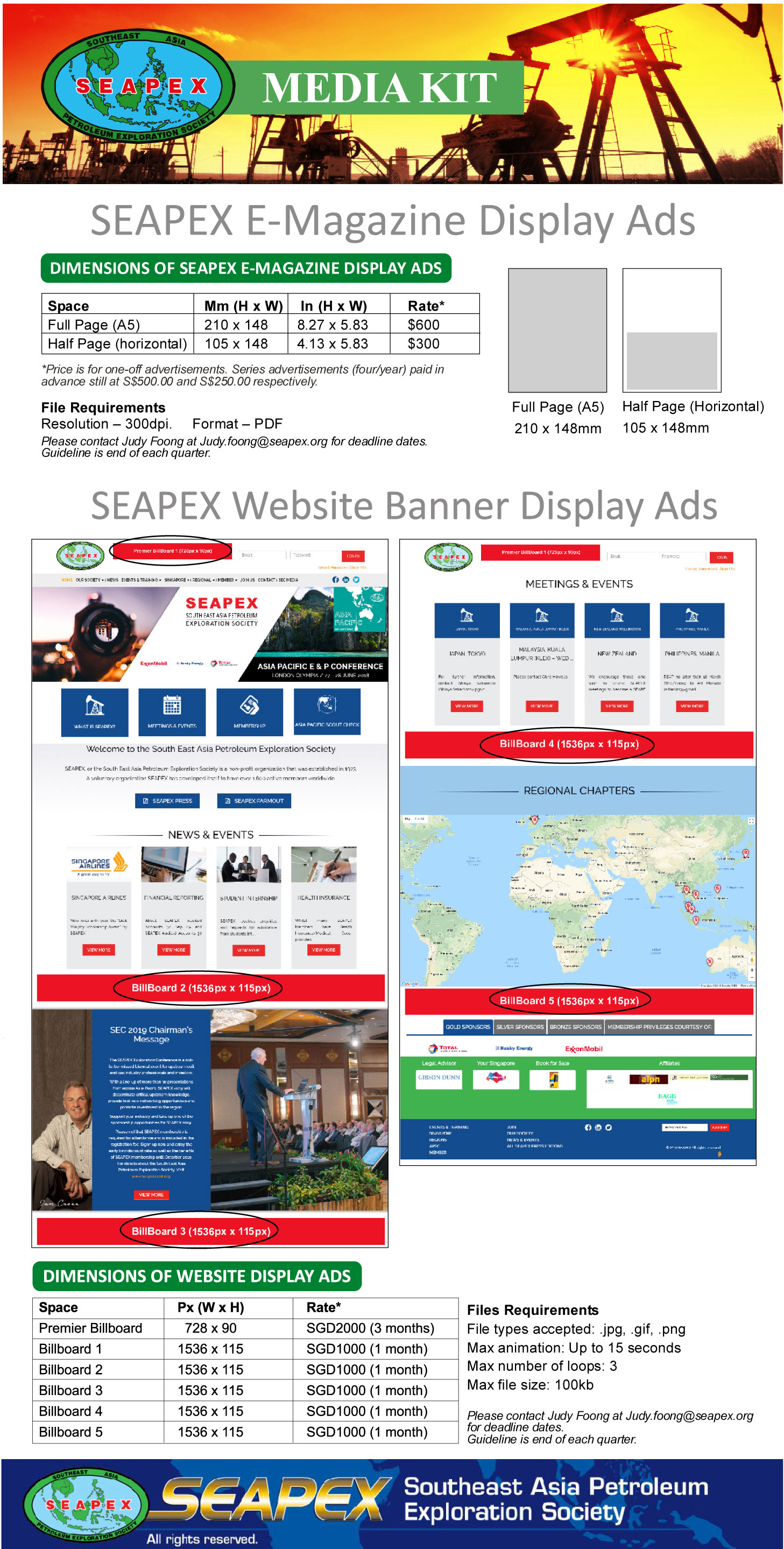 Advertise in the SEAPEX Press 2018